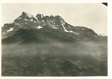 Dents du Midi Schweiz Switzerland Suisse Zeppelin Airship Dirigible CARD 30s