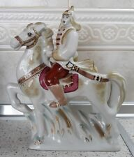 SOVIET POLONNOE PORCELAIN FIGURINE SOLDIER OF RED ARMY RIDER ON HORSE