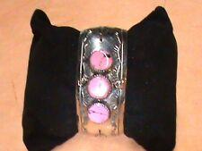 Native American Bracelet Silver and Stone Powwow Regalia Fashion Authentic #16B