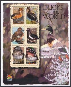 Grenada 2001 MNH SS, Fulvous white, Ducks, Waterfowl, Birds