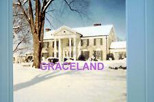 ELVIS PRESLEY GRACELAND MANSION IN SNOW ORIGINAL VINTAGE OLD KODAK PHOTO CANDID
