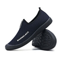 New Summer Mens Mesh Loafers Breathable Driving Slip On Sports Camping Shoes