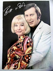 Grosse Original Faksimile Autogrammkarte Britt und Bert