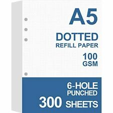 3 Pack A5 Dotted Refills Paper For Filofax Plannerbindersorganizer 6 Hole