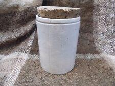 Antique stoneware  W P Hartleys Marmalade jar with cork stopper.