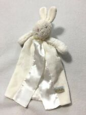 Bunnies By The Bay Solid White Security Blanket Back Safety Loop Carrot Tag