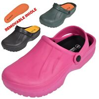 Ladies Garden Kitchen Hospital Work Clogs Shoes Slip On Mules