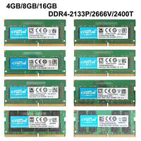 For Crucial 8GB/16GB PC4- 2400T/2666V DDR4-2400Mhz/2666Mhz SODIMM Laptop RAM Lot
