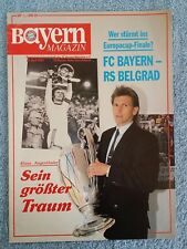 1991 - EUROPEAN CUP SEMI FINAL PROGRAMME - BAYERN MUNICH v RED STAR BELGRADE