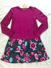 NWT GYMBOREE DRESS SIZE L(10-12)  GRAY & FUCSIA WITH FLOWERS