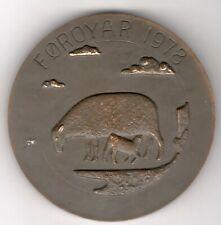 New Listing1978 Danish Foroyar Island Anders Nyborg Medal by Olafsson