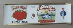 Old Vintage 1920's - SUNSHINE Tomatoes CAN LABEL  Flach Bros. Grocery Cincinnati
