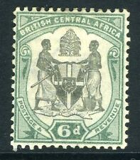 BRITISH CENTRAL AFRICA-1897-1900 6d Black & Green Sg 46 AVERAGE MOUNTED MINT