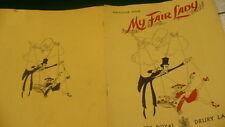 My Fair Lady Theatre Royal Drury Lane program 1958 Anne Rogers Alec Clunes