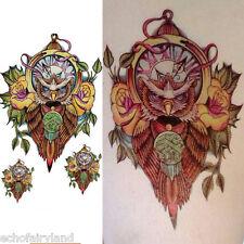 Farbig Eule Mode Tattoo Sticker Aufkleber Körper Kunst Tattoo