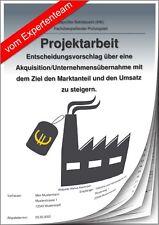 Betriebswirt BW – Projektarbeit & Präsentation IHK Unternehmensübernahme