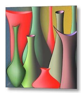 "Vases Still Life, by Ben & Raisa Gertsberg, 20""x20"", Print on Canvas"