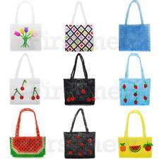 3ffaaab927e2 Ladies Handbag Tote Handmade Crystal Beadeds Bag Weave Acrylic Facny Clutch  Bags