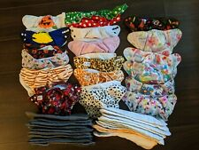 Cloth diaper lot Pockets, Covers, Aio, Inserts, Pail liners Mixed brands