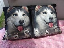 WOLF   / WOLVES     ONE PAIR OF CUSHION 40  CM / 16 INCHES
