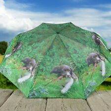 Country Matters Dog Design Telescopic Folding Brolly Umbrella - Up to Mischief