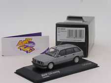 """Minichamps 431024010 # BMW 320i Touring (E30) Bj.1989 in """" lachssilber """" 1:43"""