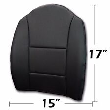 """BIG SIZE 15"""" X17"""" S.LEATHER LUMBAR SUPPORT BACK CUSHION ALL PURPOSE BLACK"""