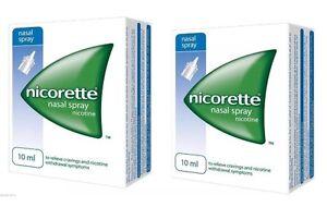 Nicorette Nasal Spray - 10ml (2 boxes of 10ml )  Expiry= January 2023