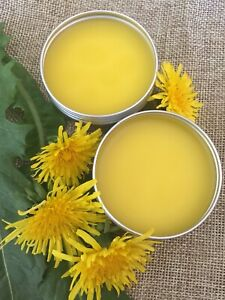 Organic Dandelion Salve/ For Sore Muscles And Chapped Skin/ Homemade