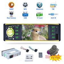 1 DIN Voiture Autoradio Stéréo Bluetooth MP3 USB AUX-IN Avec Volant Télécommande