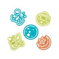 Pack of 12 - Space Theme Stencils Assorted -  Planet Moon Party Bag Fillers