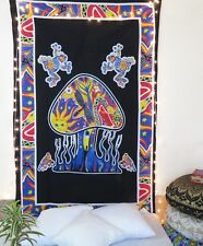 Indian Psychedelic Mushroom Tapestry Dorm Decor Hippie Boho Bedspread Tapestry
