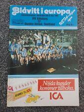 More details for ifk gothenburg v dundee united 1987 uefa cup final