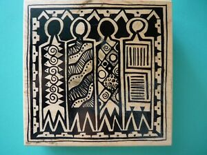 Four Tribal Figures, Large K-1778 PSX Rubber Stamp