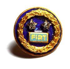 Pin Brosche Fiat IN Silber 925 Zwei Sterne Mit Glitzer