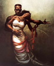 "African American Art – ""Forever My Queen"" Black Romantic Print by Jay Bakari"