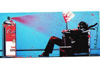 Mr Brainwash *Max Tomato Spray* Promo blue print warhol popart banksy kaws art