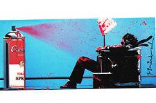 Mr Brainwash Max Tomato Spray Promo blue print warhol popart banksy kaws art
