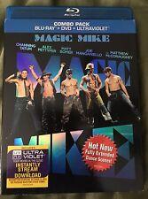 Magic Mike (Blu-ray/DVD, 2012, 2-Disc Set) + Slipcover, Like New
