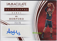 2015-16 IMMACULATE AUTO #18: AL HORFORD #21/75 AUTOGRAPH ATLANTA HAWKS ALL-STAR