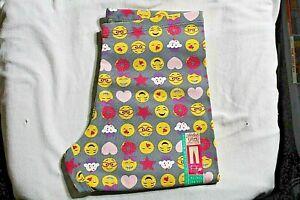 Ankle Legging Gray Junior Emoji Extra Large 14 16 Smiley Face