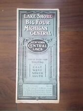 ANTIQUE 1909 U.S. RAILROAD TIME TABLE - LAKE SHORE - NEW YORK CENTRAL LINES