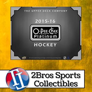 2015-16 OPC Platinum Hk 8 Hobby Box Half Case Break 7/29 5pm CST - Oilers