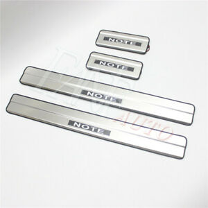 Led Door Sill Scuff Plate Guard Sills Protector Trim For Nissan Versa Note 14-19