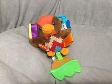 "Taggies Bird Plush Toy Musical 8"" Stuffed Animal Pull Clip On Activity"