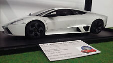 LAMBORGHINI REVENTON blanc mat o 1/18 AUTOart 74594 voiture miniature collection