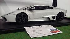 LAMBORGHINI REVENTON blanc mat o 1/18 AUTOart 74594 voiture miniature collection