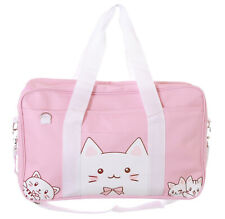 LB-209-1 Katzen Rosa Messenger Japan Lolita Anime Schul Tasche Sportbeutel