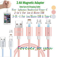 3 In 1 Magnetic USB Cable - Charging + Data Sync, IOS, Micro USB, Type C Cable