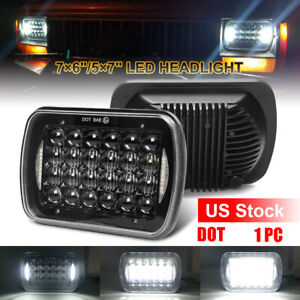 "5x7"" 7x6"" CREE LED Headlight DRL DOT For Jeep Wrangler YJ Cherokee XJ 1986-1995"